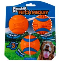 Chuckit Medley Medium - Set Fetch, Ultra and Rugged Ball 6,5cm