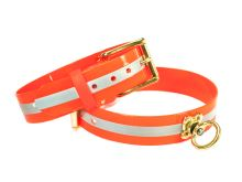 Mystique® Biothane Barvířský obojek 38mm reflex oranžová gold