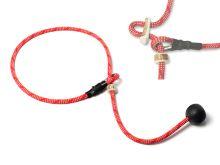 Mystique® Field trial Krátke vodítko 6mm červeno biela 65cm s dorazem