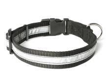 Mystique® Nylonový obojek profi reflexní 30mm černá 55-65cm