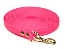 Pohoda_Biothane_tracking_leash_19mm_solid_brass_neon_pink_small_web - kópia