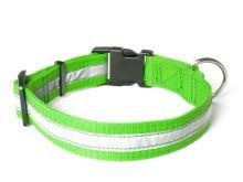 Mystique® Nylonový obojek profi reflexní 30mm neon zelená 50-60cm